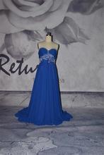 bgrb08 caliente venta vestido de noche azul real