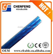 Rojo / negro del altavoz / cable ( ccs, cca, bc, cobre estañado ) ( transparente )