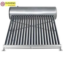 Compact non-pressurized solar water heater solar flat panel