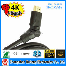Factory Directly Sell High Speed HDMI to HDMI Cable With Ethernet Support 3D 4Kx2K 1080P HDTV