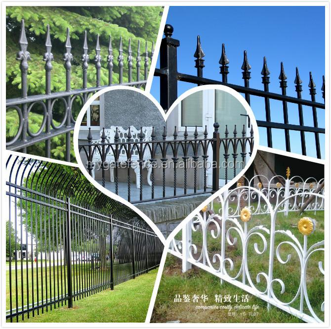 Yishujia fabrik europäischen stil moderne metall kunst garten zaun ...