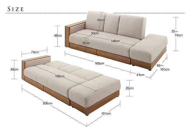 Modern design sofa cum bedwooden sofa cum bed designs for Wooden sofa come bed design