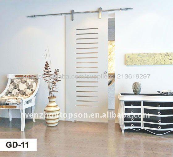 Vidrio sin marco puerta corredera puerta identificaci n - Puertas correderas sin marco ...
