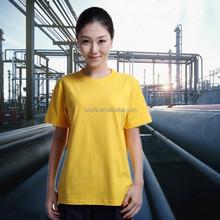 high quality women yellow pure cotton t-shirt