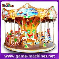 Qingfeng amusement park beautiful carousel horses plastic merry go round carousel horses for sale