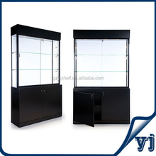 Design wood glass showcase/jewelry cases wholesale/glass jewelry display cabinet