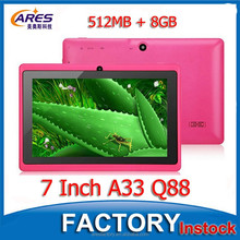Best Gift Color PC Tablet 7 Inch Android 4.4 OS 512MB 8GB Quad Core Super Smart Tablet PC