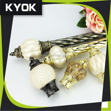 KYOK flexible curtain rod price ,wooden curtain pole