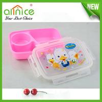 Hot selling Korean Plastic children lunch box / student bento box /school tiffin box