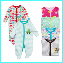 2015 hot sale Spring & Autumn 100% cotton baby romper, sleep and play