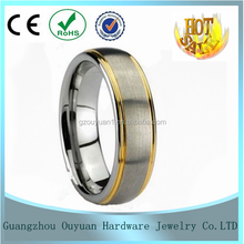 8mm Wholesale 18K Plated golden Tungsten Carbide Wedding Ring, 2015 Fashion Mens Engagement Ring/Wedding Jewelry