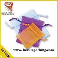Hot selling custom printed small organza jewelry bag, best price organza tea bag