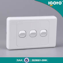 igoto australia stanard AS306 new invention push buttons lamp wall switch