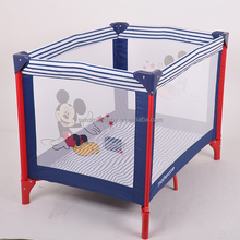 baby play pen with bassinet, colorful baby play yard can add screen print ,foldable baby travel cot