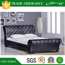 SS8055 ikea black leather round bunk bed