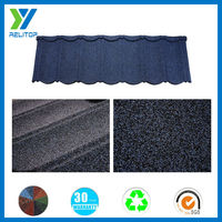 Villa/house roofing stone coated steel roofing tile