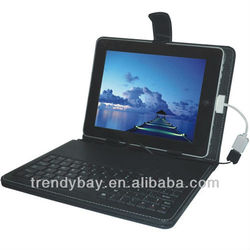2013 Favorable Price for 10.2 tablet pc leather case with keyboard