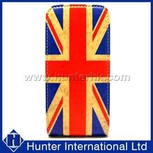 Retro Printed UK Flag Top Flip Case For iphone5