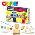 Manualidades infantiles de juguete de niño de Color su de madera Mini Robot Set
