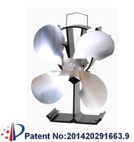 Top silent heat powered air warm stove fan