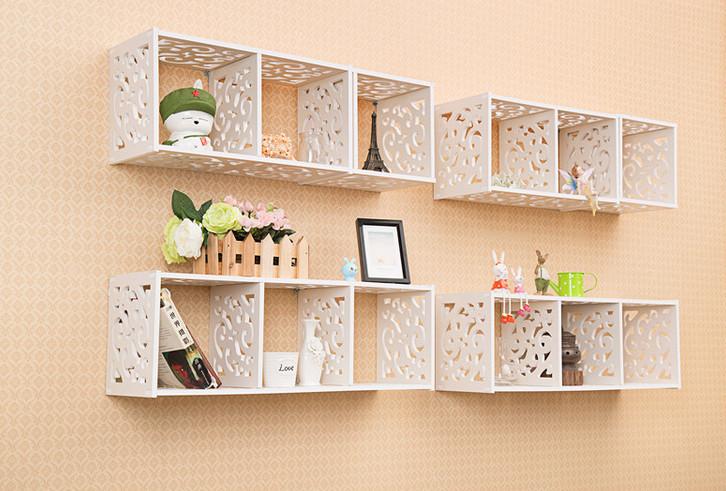 Decoratie wandplank woonkamer for Goedkope houten meubels