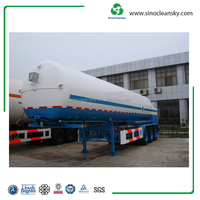 ASME Standard Cryogenic Lorry Tanker for Liquid Gas Transportation