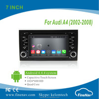 """Quad Core 7"""" Android 4.4.4 Car Multimedia Player for Audi A4 ( 2001-2008 ) with HD Touch Screen Gps Navi,3G,Wifi,Bluetooth,Ipod"""
