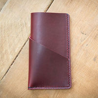 Full Grain Leather Luxury Dark Red Sleeve for iphone 6 plus leather case Custom