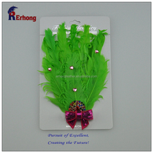 Latest Design Flowers Hair Accessory Feather Headdress for Decoration