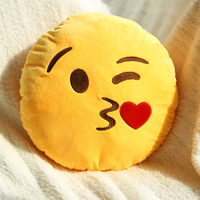 Christmas Stuffed Plush Toy Doll Present 14 Styles Soft Emoji Smile Emoticon Yellow Round Cushion Pillow