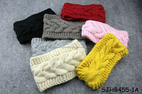 2015 women new knitted winter headband with button