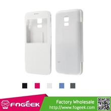 for samsung s5 mini good case Top Quality Leather Flip Cover for Samsung Galaxy S5 mini G800