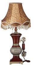 elegant and beautiful mature feeling table lamp with telephone for studying room or bedroom YL