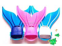 Kid's Mermaid tail EVA+POM Material colorful swim monofin for swimming