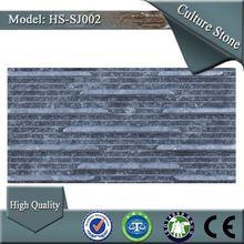 HS-SJ002 living room black color crystal culture wall slate tile