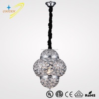 GZ50047-1P Turkey style post-modern chrome crystal iron art pendant lighting