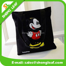 Custmized Mickey Mouce Cotton Canvas Tote Bag Cotton Bags Promotion Recycle Organic Cotton Tote Bags Wholesaleo