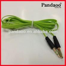 Buena calidad 3.5mm cable de audio para auxiliar de cable para el iphone