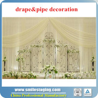 Best selling hot chinese products systems pipe and drape wedding backdrop ceiling draping kits
