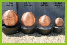 100 200 250 300 350mm matte hollow copper balls
