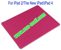 Wholeprice Front with Back Transparent Hard Case Cover for iPad 2/The New iPad/iPad 4(Rose)