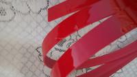 Suntung high gloss pvc plastic edge banding strip ,red color high gloss pvc edge banding