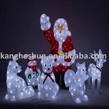 Outdoor Lamp Christmas Decoration Lights Christmas 3D Santa Claus Led Motif Light