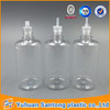 50ml clear plastic smoke oil dropper bottle with childproof tamper closure