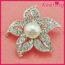 hot pearl flower brooch use for brooch bouquetWBR-1550