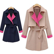 Newest fashion brand trench dustcoat women's coat 2015