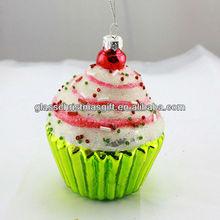 charming and fashion christmas glass decoration, fashionable glass christmas ornament