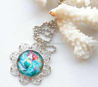 2014 new style fashion Ariel Mermaid pendant chain necklace for baby girl in wholesale&retail