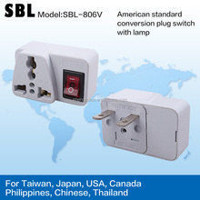 American standard conversion plug ,switch with lamp,American standard converters