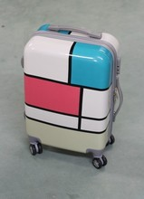 Customized Check Printed Luggage for girls , travel suitcase for girls